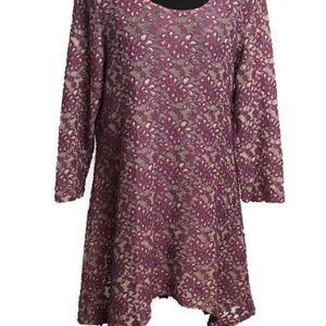 Tianello Textured Asymmetrical Hem Tunic/Dress